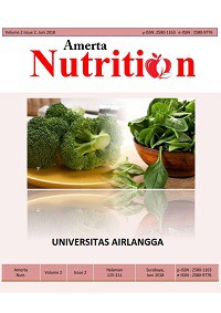 Image of Jurnal Amerta Nutrition ; Vol.3 No.3 Th 2019